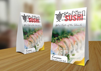 Kaisen Sushi Table Toppers