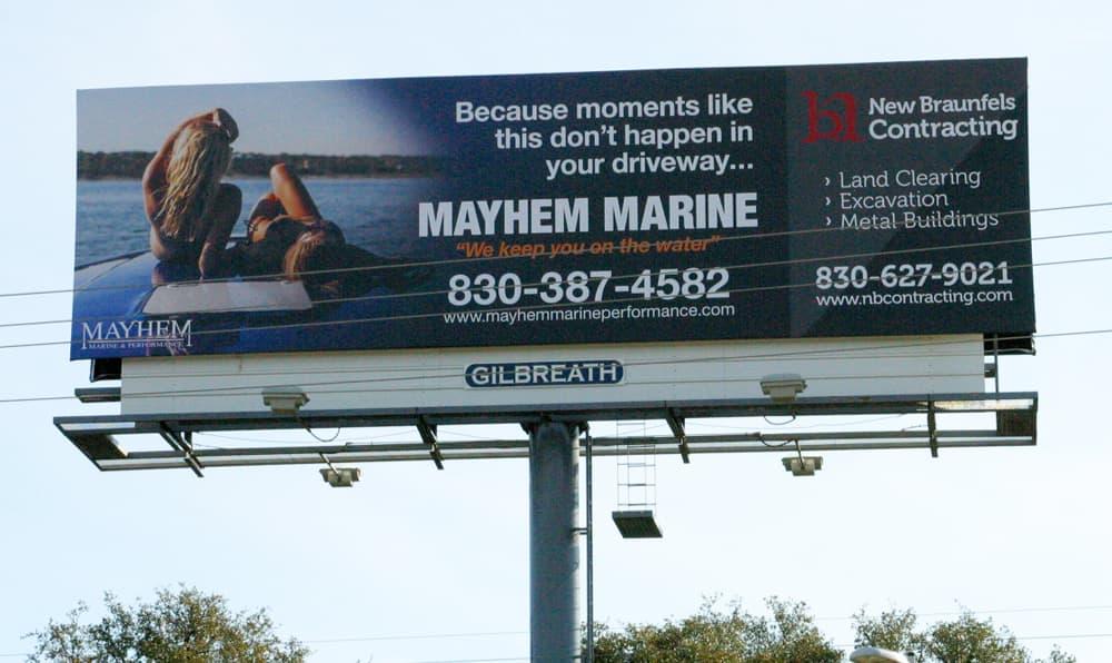 Billboard Mayhem Marine & NB Contracting