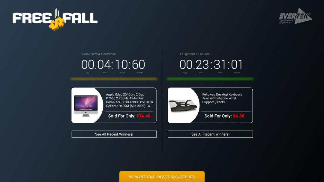 Evertek Free Fall Site Layout
