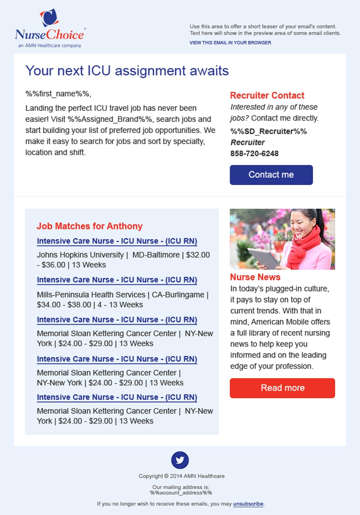 Club Staffing eMail Marketing