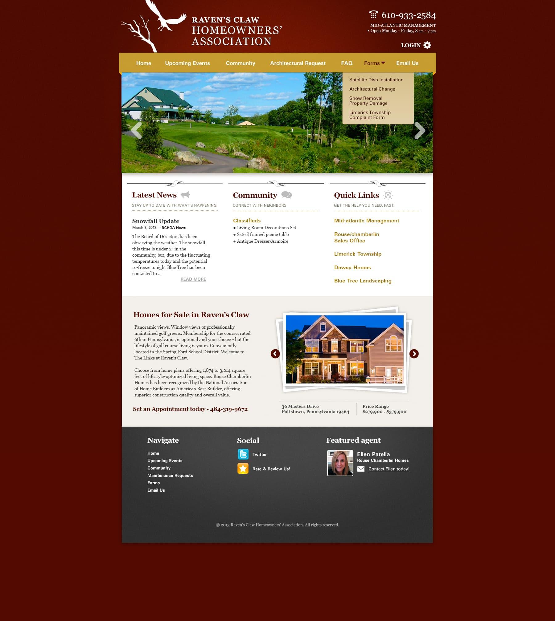 RavensClaw HOA Site