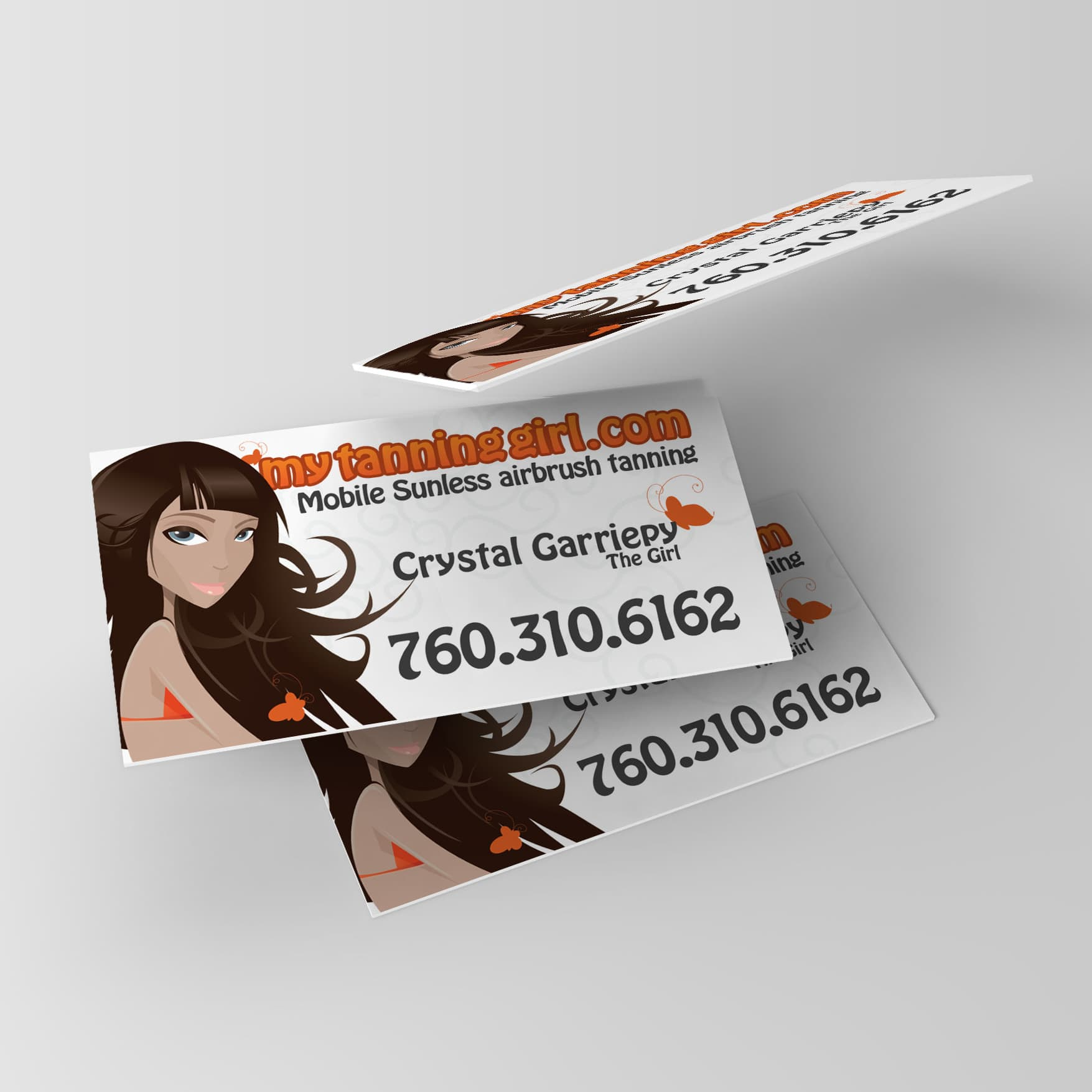 Tanning Girl Cards