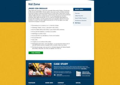 Safety - Kid Zone - School Bus Rules - Spanish